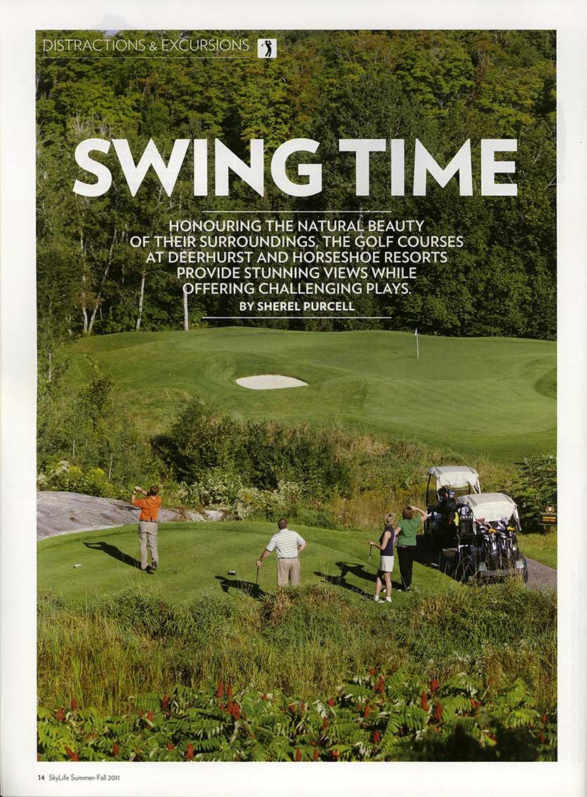 Golfers tee off at Deerhurst Highlands Golf Course