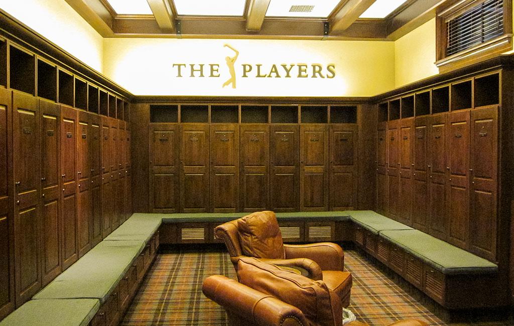 The Players locker room at TPC Sawgrass