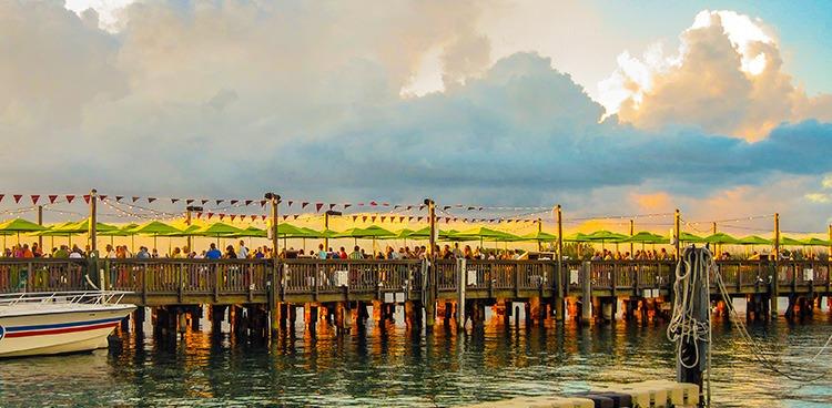 Sunset Ceremony on Key West Pier