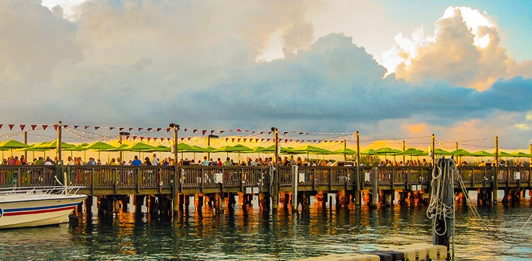 Sunset Ceremony on Key West Pier