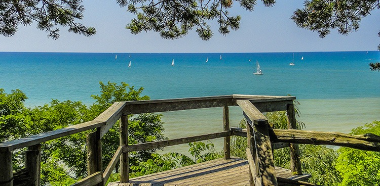 Sailboats on Lake Huron Pinery Provincial Park