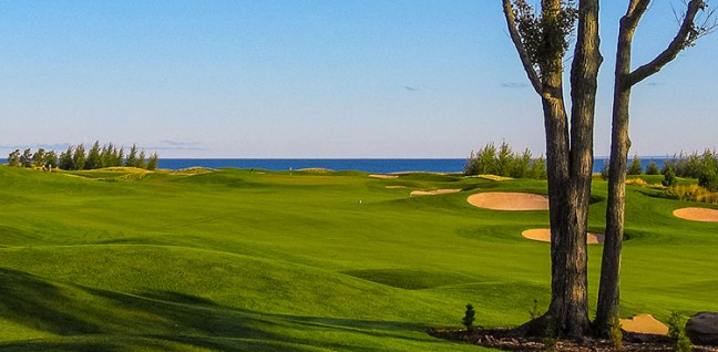 Fox Harb'r Golf Course facing the Atlantic