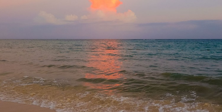 Beach sunset near Paradisus Playa del Carmen