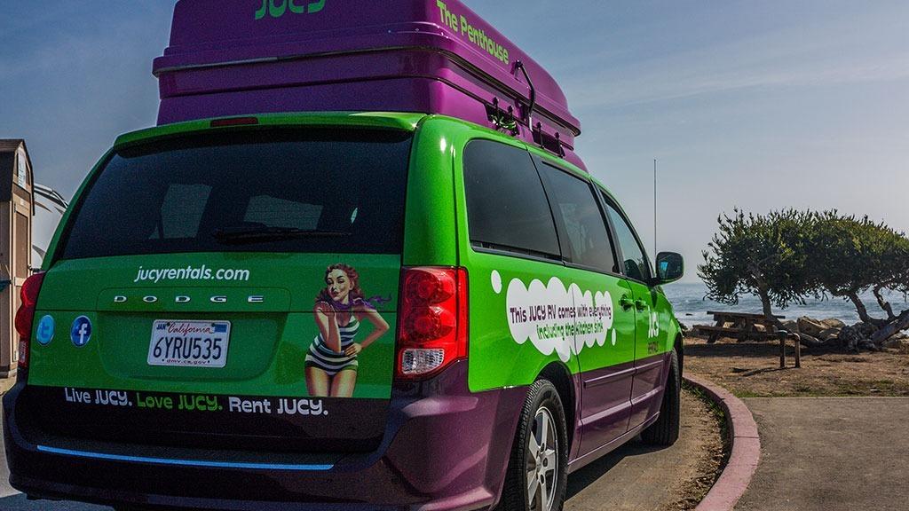 Jucy RV at Carpenteria State Beach, California
