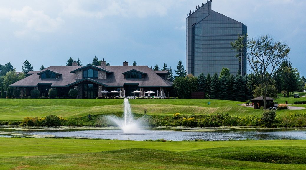 Grand Traverse Clubhouse with Resort in background