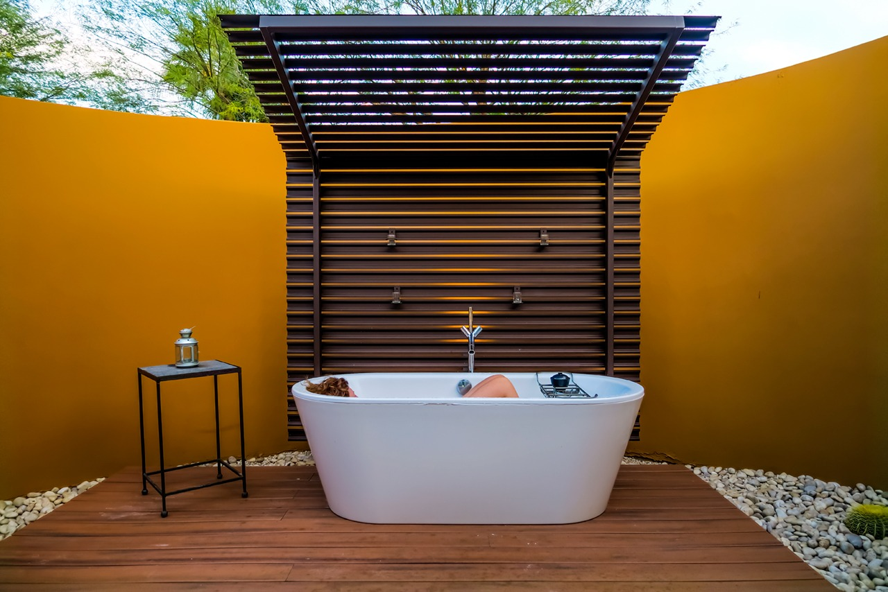 Oversized soaker tub at Sanctuary Resort & Spa
