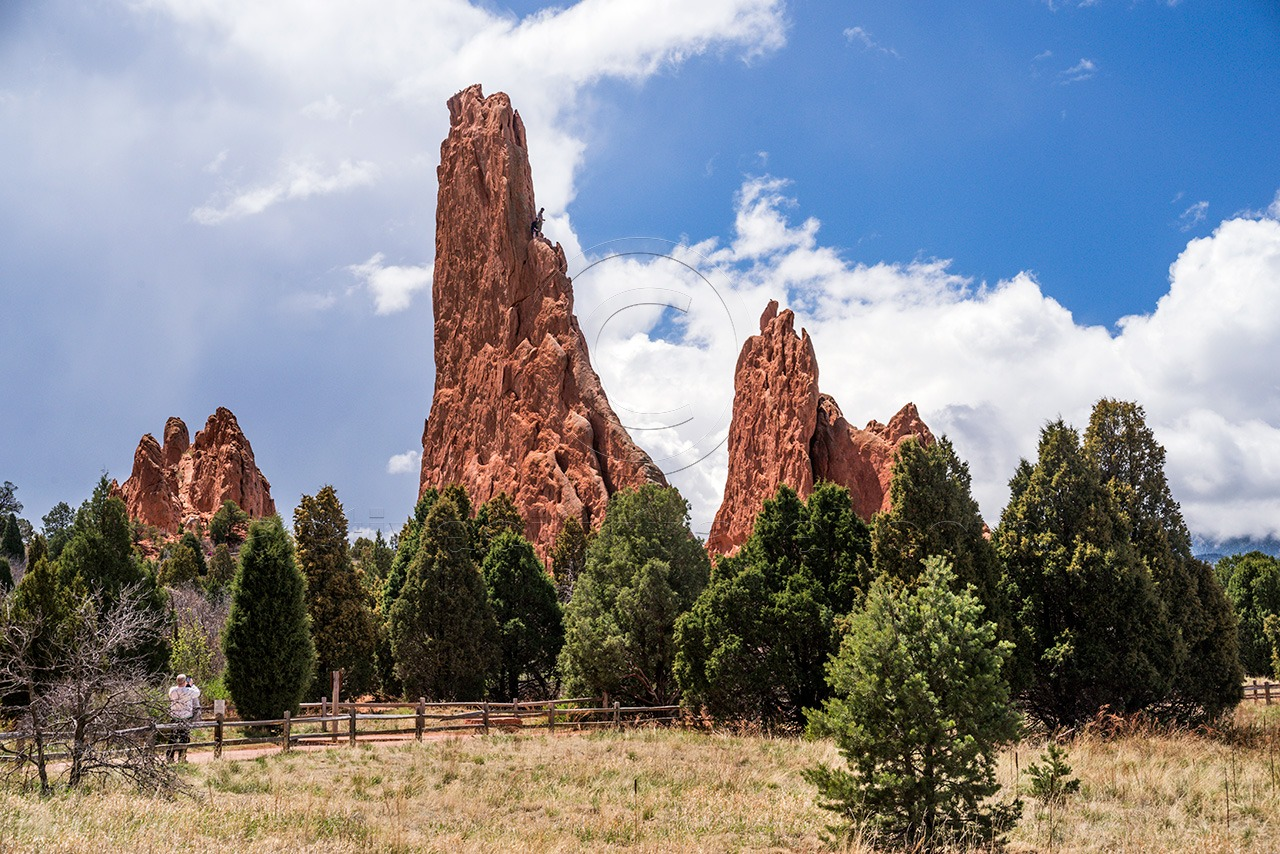 Climbers in Garden of the Gods Park