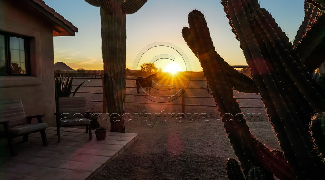 Sunset at the White Stallion Ranch, Tucson, Arizona