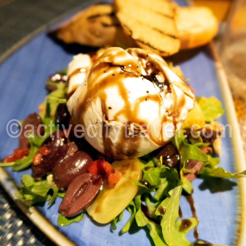 Burrata Salad at Steelpan, Sonesta Beach Hotel