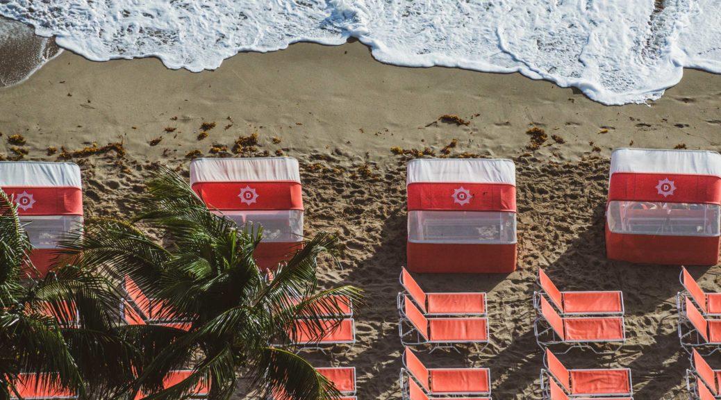 Diplomat Cabanas on beach