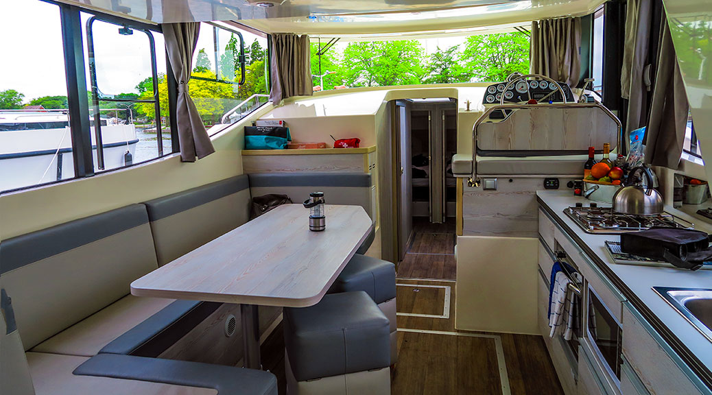 Le Boat Interior cabin